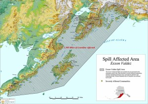 Exxon Valdez spill map