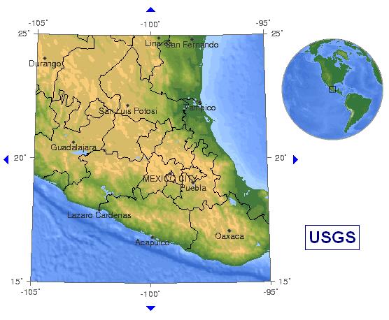 mexico quake forecast 2009 LocMap