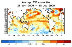 average SSr anomalies