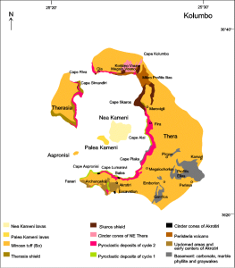 Santorini Geological setting