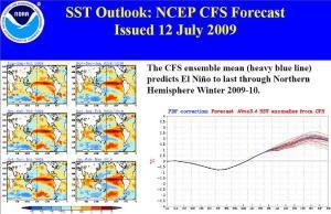 sst outlook 12 july 2009