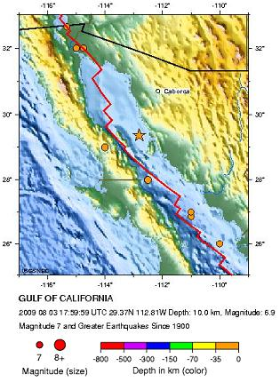 Historic Seismicity us2009jwbh