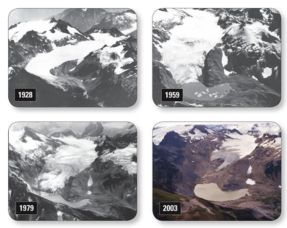 Retreat of South Cascade Glacier