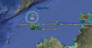 Timor Sea quake forecast