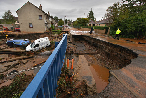 Heavy Rain Floods Parts of Scotland - Getty