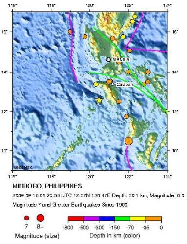 Historic Seismicity - mindoro