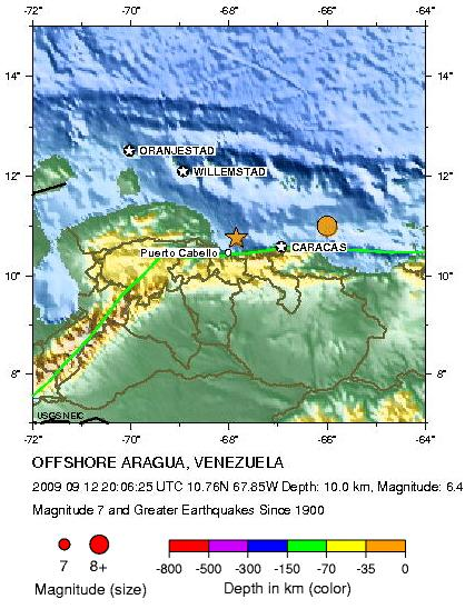 Historic Seismicity venezuela