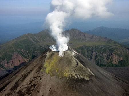 Karymsky volcano on August 18-2009 Photo by S Chirkov