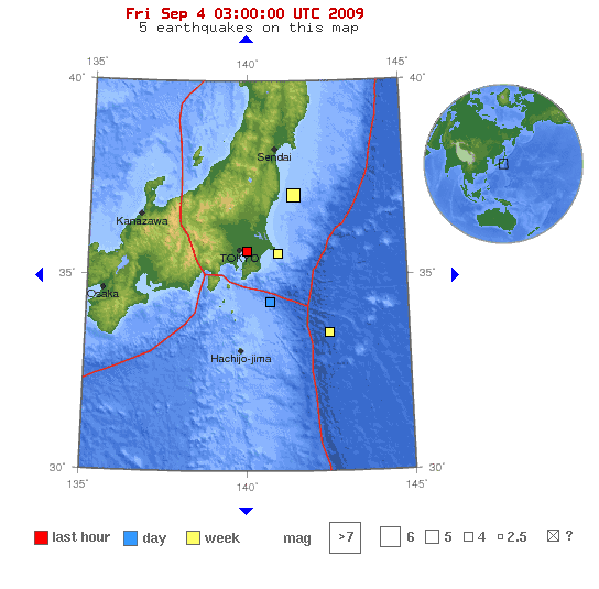 earthquake in japan map. earthquakes in Japan.