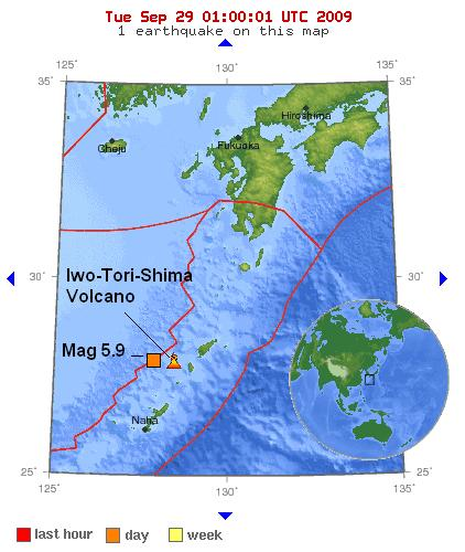 Magnitude 5.9 - RYUKYU ISLANDS 28 sep 2009
