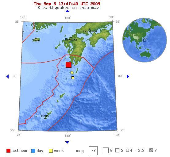 Magnitude 6.2 - KYUSHU - JAPAN 3-09-09