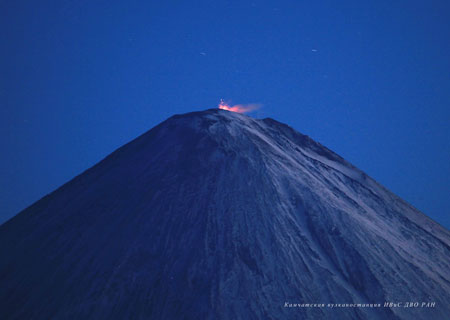 Strombolian activity of Klyuchevskoy volcano on September 18-2009 Photo by Yu Demyanchuk