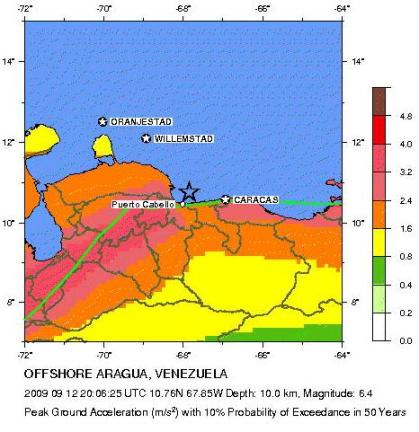 venezuela  Seismic Hazard Map