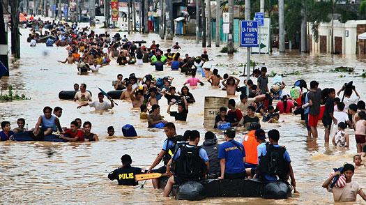 flooding in suburban Cainta east of Manila -AP