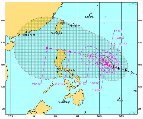 LUPIT Projected path JTWC