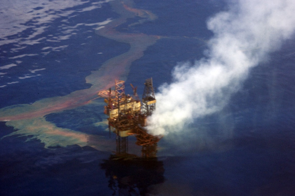 The West Atlas Oil Spill.