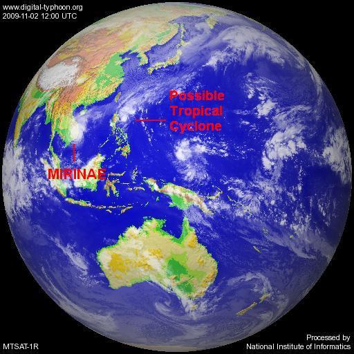 MTSAT IR  full disk 2-11-09 1200 UTC