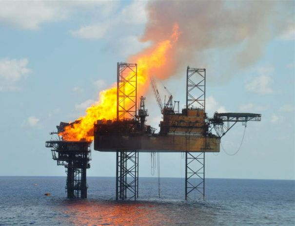 Oil Rig Fire PTTEP