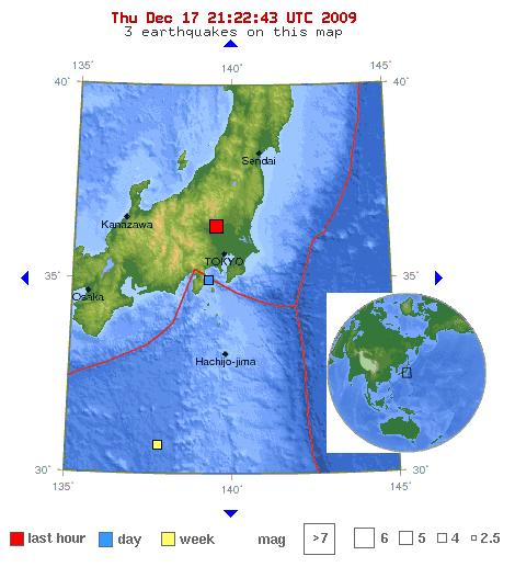 map of japan earthquake today. +japan+earthquake+map