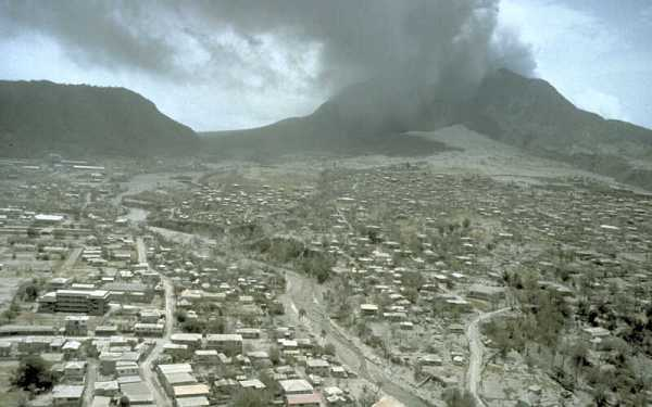 an analysis of the soufriere hills volcano in montserrat island Montserrat is a small island in the caribbean there is a volcanic area located in the south of the island on soufriere hills called chances peak before 1995 it had.