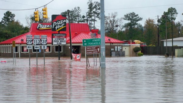 Flooding in Escambia County,