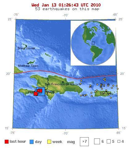 map of haiti earthquake epicenter. Earthquake Location map.