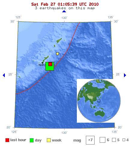earthquake location map