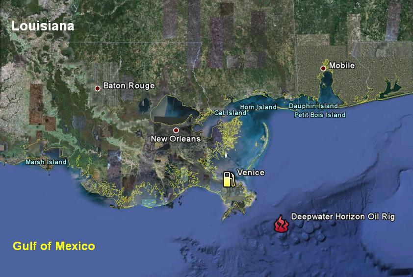 deepwater horizon location map
