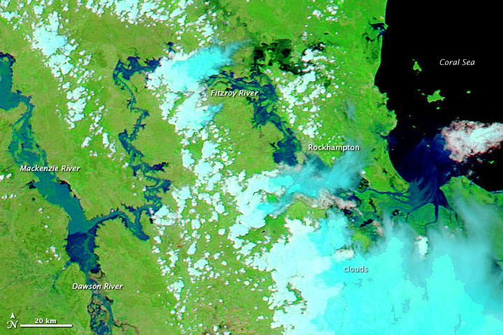 Fitzroy Basin Flooding – Satellite Images