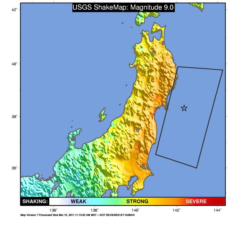 Japan Earthquake Map Fire Earth - Japan 2011 map