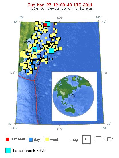 map of japan earthquake today. Earthquake Location Map.