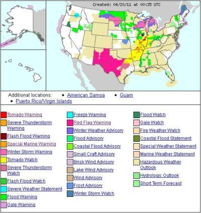 U.S. Weather Map « Fire Earth