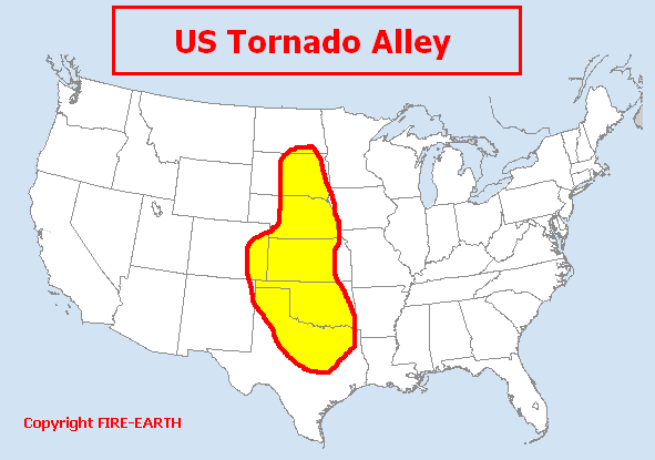 Tornado Alley Fire Earth - Tornado maps in us