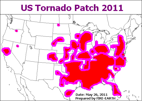 Us Weather Map Fire Earth - Us-tornado-map