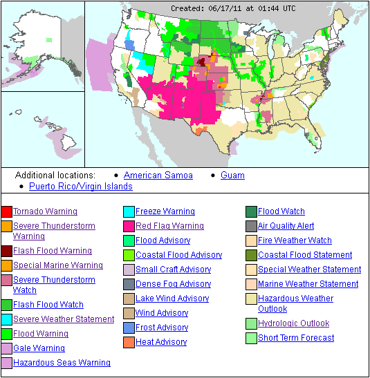 US Weather Forecast Map « Fire Earth