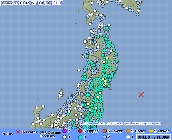 tsunami status  jma has just