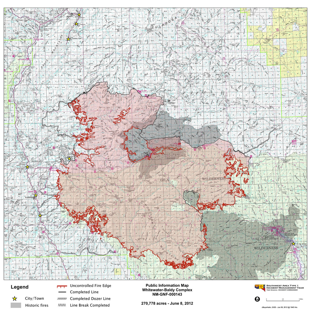 Latest Available Map For Gila National Forest