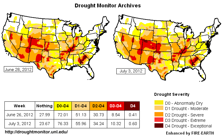 US Drought Map Fire Earth - Us dought map 2002