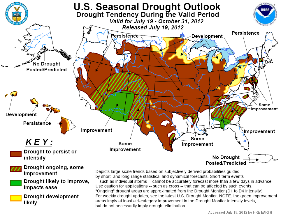 US Weekly Precipitation Map Fire Earth - Drought forecast us map