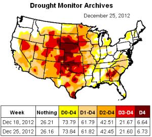 us drough map 25dec2012