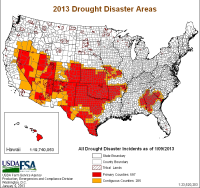 2013 drought disaster areas