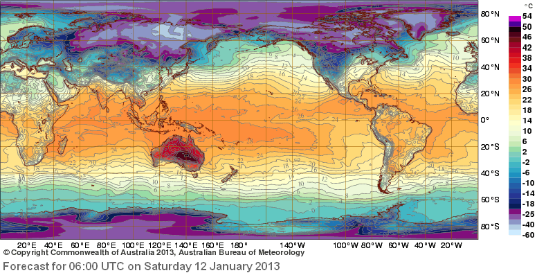 Global temperature forecast map fire earth global temp forecast map sciox Choice Image