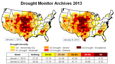 u-s drought monitor - 8jan13