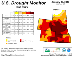 us drought - high plains - 29jan2013