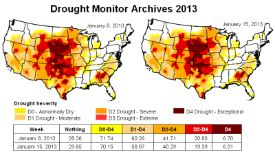 us drought map 15jan2013