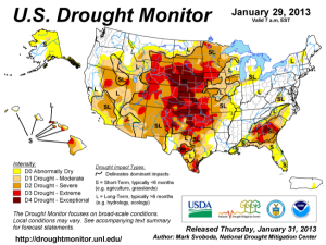 us drought monitor - 29jan13