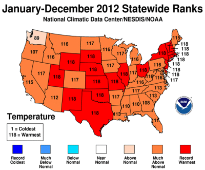 us temp 2012 statewide ranks