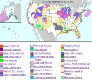 US weather HAZMAP- NWS