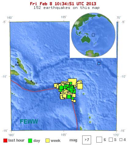 santa cruz islands - aftershocks