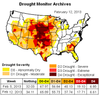 us drought map 12feb2013